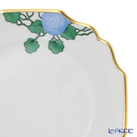 アウガルテン (AUGARTEN) ハイドランジア(アジサイ)(6703) プレート 20cm(114ヴェルヴェデーレシェイプ) ハイドランジェア 皿 引き出物 結婚祝い 食器