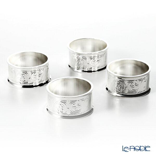 クイーン アン QUEEN ANNE(イギリス製銀メッキ) ナプキンリング 4個セット 4.5cm 0/902 キッチン 用品 雑貨 調理