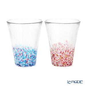 津軽びいどろ にほんの色 舞う桜と春の空 タンブラーペア (ふうけい) 305ml FS-62506 グラス ギフト 食器 ブランド 結婚祝い 内祝い