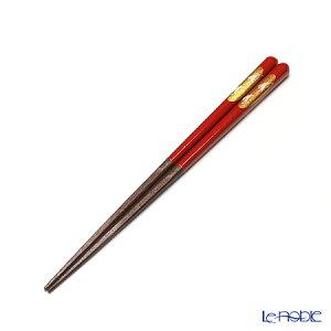 若狭塗箸 先角箸 うさぎ(中) 赤 21cm【楽ギフ_包装選択】【楽ギフ_のし宛書】