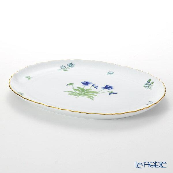 ヘレンド(HEREND) ハーブガーデン(イングレース) オーバルディッシュ 31cm プレート 皿 引き出物 結婚祝い 食器