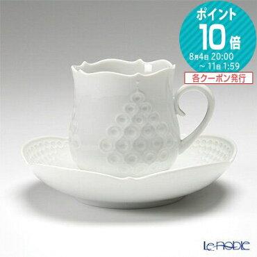 マイセン(Meissen)ホワイトレリーフ000001/26582コーヒーカップ&ソーサー150cc
