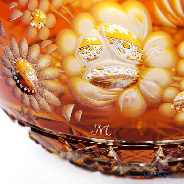 【ポイント10倍】マイセン(Meissen) マイセンクリスタル MFO/140/16AB 花瓶ラウンド(アンバー) 16cm フラワーベース おしゃれ ギフト