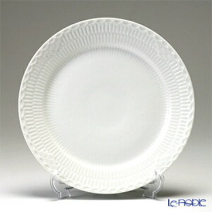 【ポイント10倍】ロイヤルコペンハーゲン (Royal Copenhagen) ホワイト フルーテッド ハーフレース プレート(フラット) 25cm 1128625/1017295 北欧 ホワイトフルーテッド 皿 お皿 食器 ブランド 結婚祝い 内祝い