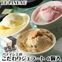 【敬老の日】ルピノー アイス ジェラート ギフト 詰め合わせ 6種セット 手作りジェラート アイスク