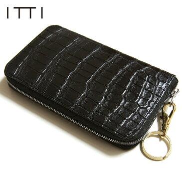 ITTI イッチ CRISTY SMART MID WLT Croco クリスティ スマート ミドルウォレット クロコダイル ミドル財布 ラウンドジップ ワニ革 ITTI-WLT-006-D