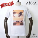 Altea アルテア プリント Tシャツ 半袖 クルーネック オレンジ メンズ コットン イタリア製 春夏モデル 国内正規品 13824