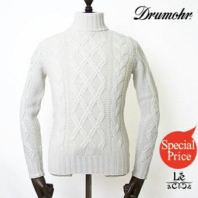 Drumohr(ドルモア)カシミヤアランタートルネックニット