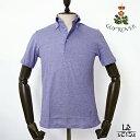 GUY ROVER ギローバー ボタンダウン ポロシャツ 鹿の子 半袖 無地 ミディアムブルー ビジネスポロシャツ イタリア製 国内正規品 15120