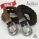 【クリスマス20%OFF】saddler's/サドラーズ/スウェードメッシュベルト/スエード/G97/専用ケース付/本革/イタリア製/9720