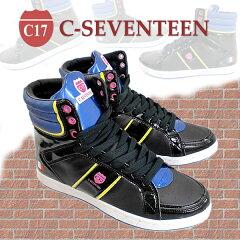 【SALE】● C-SEVENTEEN(C-001)カラーバランスが絶妙なオシャレなハイカットレディーススニー...