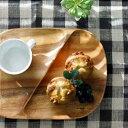 アカシアレクタングルトレー2仕切り付(K0120)【お皿 木製 木皿 ウッド 食器 プレート キッチン ナチュラル 北欧雑貨】【北欧 ナチュラル おしゃれ カフェ 雑貨】