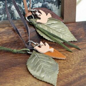 【アンティークゴールド調/葉っぱと鳥のモチーフ】Hawk Company(ホークカンパニー)/リーフ...