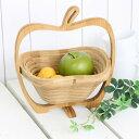 【果物や小物を入れて・・・折りたたむとコンパクトに!】イグルーバスケット アップル(S)