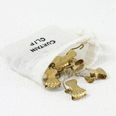 カフェカーテン真鍮黄銅ナチュラルフックブラス カーテンクリップ S/10(305845)