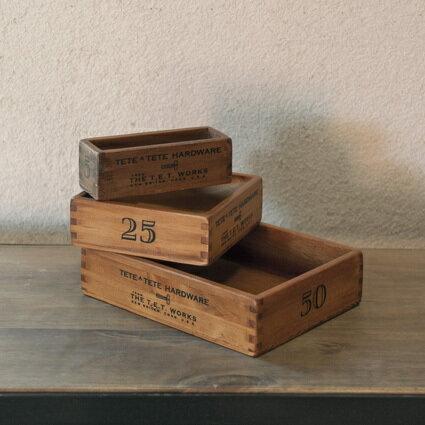 Homestead(ホームステッド) 小箱3個セット 【AXCIS アクシス 木製ボックス 木箱 ウッド 収納 アンティーク 北欧雑貨】【インダストリアル ブルックリン おしゃれ インテリア かっこいい シンプル】