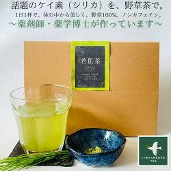【送料無料】若肌茶(30日分0.3g×40包)美肌美髪ケイ素美味しいノンカフェイン妊婦頭皮プレゼント