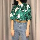 アロハシャツ レディース 半袖 開襟シャツ ボタニカル柄 大きいサイズ ゆったり リゾート 夏
