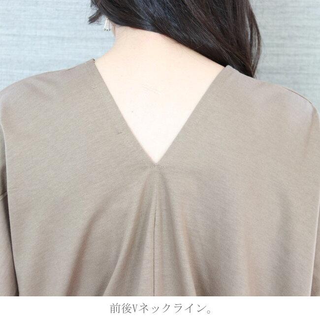 VネックボックスTシャツ