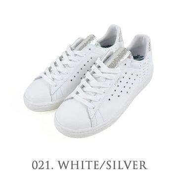 QUEBEC+MP ホワイト/シルバー スニーカー