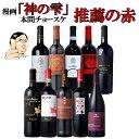 【毎日1名様にワインが当たる!?】本間チョースケ厳選【赤ワイン10本セット】イタリア政府公認ソムリエと本間チョースケ推薦10本セット 【いままでの人気のワインをまとめました】赤ワイン 金賞ワイン多数 EPA ワインセット 家飲み