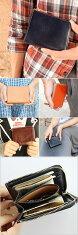 光沢と深みのあるイタリア革♪スッキリコンパクトに薄型財布