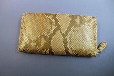 パイソン長財布一枚革本革ダイヤモンドパイソン艶有りラウンドファスナー最高級品ナチュラル金運
