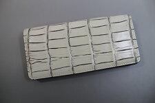 【日本製】【ハンドメイド】クロコダイル長財布メンズレディース目地染め二つ折り長財布熟練職人特製バニラ