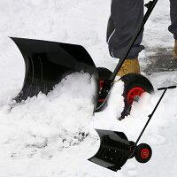 雪かき道具車輪付きワイド手押しラッセル角度調整可能除雪用品スノープッシャースノーダンプブレードスコップダンプショベルシャベル雪掻きキャスター付きタイヤ付き除雪作業送料無料_83199