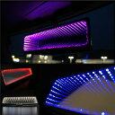ルームミラー LED内蔵 ブラックホール ワイドミラー 汎用 電...