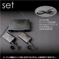 ワイヤレスマイクセット2CH/2本同時使用可能ピンマイクカラオケ/イベント/会議/説明会/等に最適ですレビューを書いて送料無料/送料無料/送料込み/送料込_73008(73008)