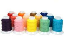 ビニモ0番(ダブルロウ付糸)全25色レザークラフト工具手芸ハンドメイド革