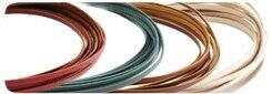 ロイヤルレース<2mm巾×90cm>色物(10本)(協進エル)革紐ひも手芸ハンドメイドレザークラフト