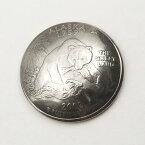 【本物コインコンチョ】アラスカ州25セント1ヶ【24mm】