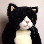 【送料無料】日本製!Cuddlyこだわりねこのヌイグルミ甚五郎(黒白ネコ)【smtb-tk】【ネコ】【ぬいぐるみ】【プレゼントにもオススメ】【黒猫】【猫グッズ】【RCP】
