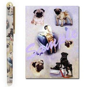 書き味も滑らかでとても書きやすいですインクペン パグ 世界的に有名な動物画家「ルス・メイ...