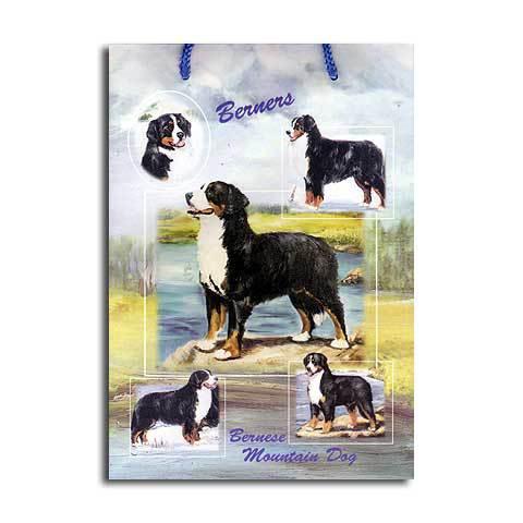 ギフトバッグ 小 バーニーズ 世界的に有名な動物画家「ルス・メイステッド」さんデザイン(紙袋 犬グッズ コレクション USA デザイナーブランド おしゃれ かわいい プレゼント 贈り物 包装 バッグ ギフト バック 犬のバック 楽天) 卒業式 プレゼント ギフト