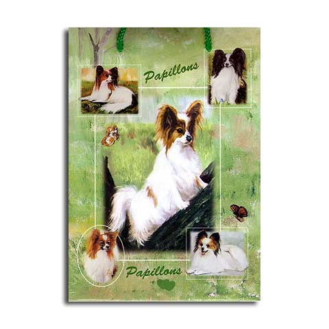 ギフトバッグ 小 パピヨン 世界的に有名な動物画家「ルス・メイステッド」さんデザイン(紙袋 犬グッズ コレクション USA デザイナーブランド おしゃれ かわいい プレゼント 贈り物 包装 バッグ ギフト バック 犬のバック 楽天) 卒業式 プレゼント ギフト