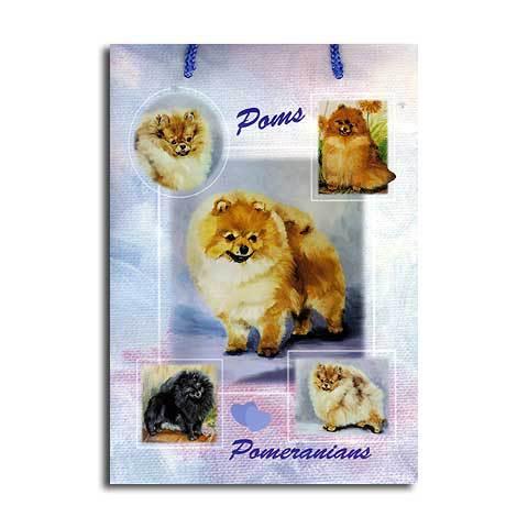 ギフトバッグ 小 ポメラニアン 世界的に有名な動物画家「ルス・メイステッド」さんデザイン(紙袋 犬グッズ コレクション USA デザイナーブランド おしゃれ かわいい プレゼント 贈り物 包装 バッグ ギフト バック 犬のバック 楽天) こどもの日 ギフト ルシアン