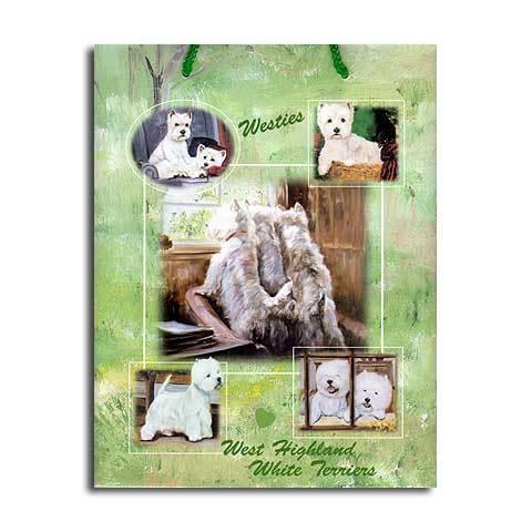 ギフトバッグ 小 ウェスティー 世界的に有名な動物画家「ルス・メイステッド」さんデザイン(紙袋 犬グッズ コレクション USA デザイナーブランド おしゃれ かわいい プレゼント 贈り物 包装 バッグ ギフト バック 犬のバック 楽天)【メール便OK】母の日 こどもの日