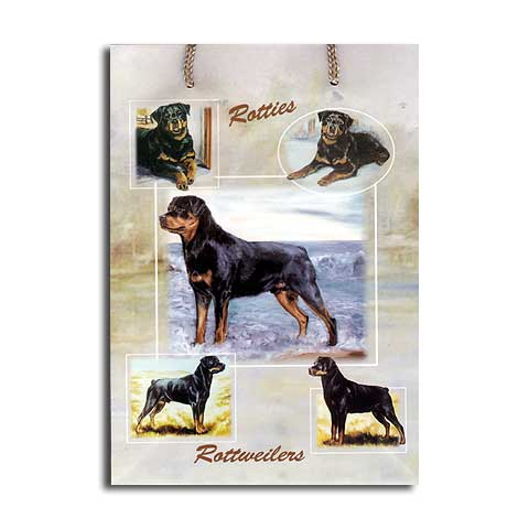 ギフトバッグ 大 ロットワイラー 世界的に有名な動物画家「ルス・メイステッド」さんデザイン(紙袋 犬グッズ コレクション USA デザイナーブランド ラッピング ラッピングバッグ 手提げ 犬雑貨 誕生日 プレゼント ギフト 通販 楽天) こどもの日 ギフト ルシアン