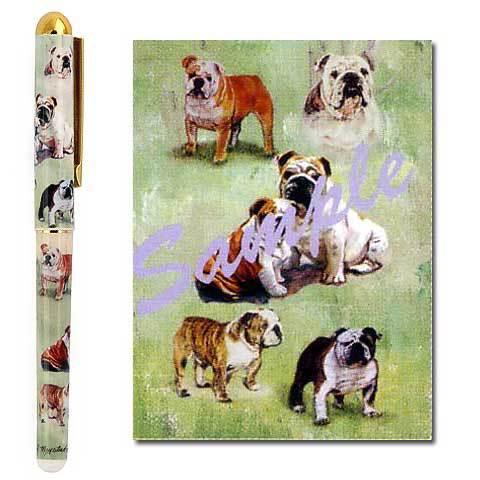 【メール便OK】インクペン【ブルドッグ】 世界的に有名な動物画家「ルス・メイステッド」さんデザイン(ボールペン ペン 犬 グッズ 文房具 デザイナーブランド) こどもの日 卒業式 プレゼント ギフト お返し ルシアン