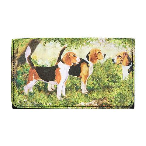 長財布 三つ折りウォレット【ビーグル】 世界的に有名な動物画家「ルス・メイステッド」さんデザイン(犬 雑貨 パググッズ 財布 デザイナーブランド)【メール便OK】 卒業式 プレゼント ギフト お返し ルシアン