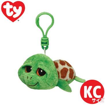 TY ぬいぐるみ キーホルダー カメのジッピー ビーニーブーズ 8cm Beanie Boo's ウミガメ プレゼント ギフト かわいい キラキラ ギフト ルシアン