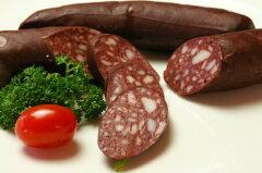 本格ドイツ製法で作った古典的なソーセージブルートヴルスト(豚の血の腸詰め)(140g) ブラッド...