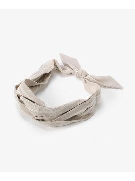 [Rakuten Fashion]ストライプリネンターバン le.coeur blanc ルクールブラン 帽子/ヘア小物 カチューシャ/ヘアバンド ベージュ ネイビー【送料無料】