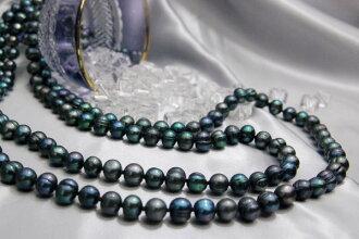 売切れ of the most popular limited sale product green-purple mysteria scalar 160 cm super long! Nawatsuya Freshwater Pearl long necklace