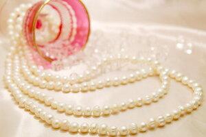 パール 真珠 ロングネックレス 160cm 白