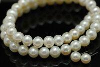 特級8mm淡水真珠ネックレス・7mm淡水真珠ピアスセット(イヤリング可)冠婚葬祭対応一つは持っていたいマストアイテム透明感あるてりてりホワイト最強セット!