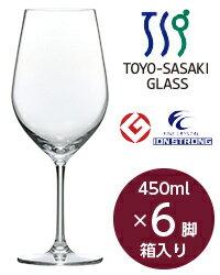 東洋佐々木ガラス ディアマン ワイン 450ml 6脚セット 品番:RN-11235CS wineglass 赤ワイン グラス 日本製 ボール販売